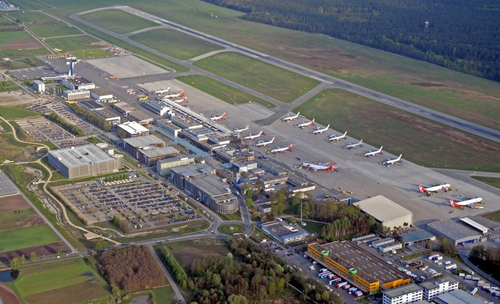 Der Nürnberger Flughafen aus der Vogel-/Pilotenperspektive. Foto: Airport Nürnberg